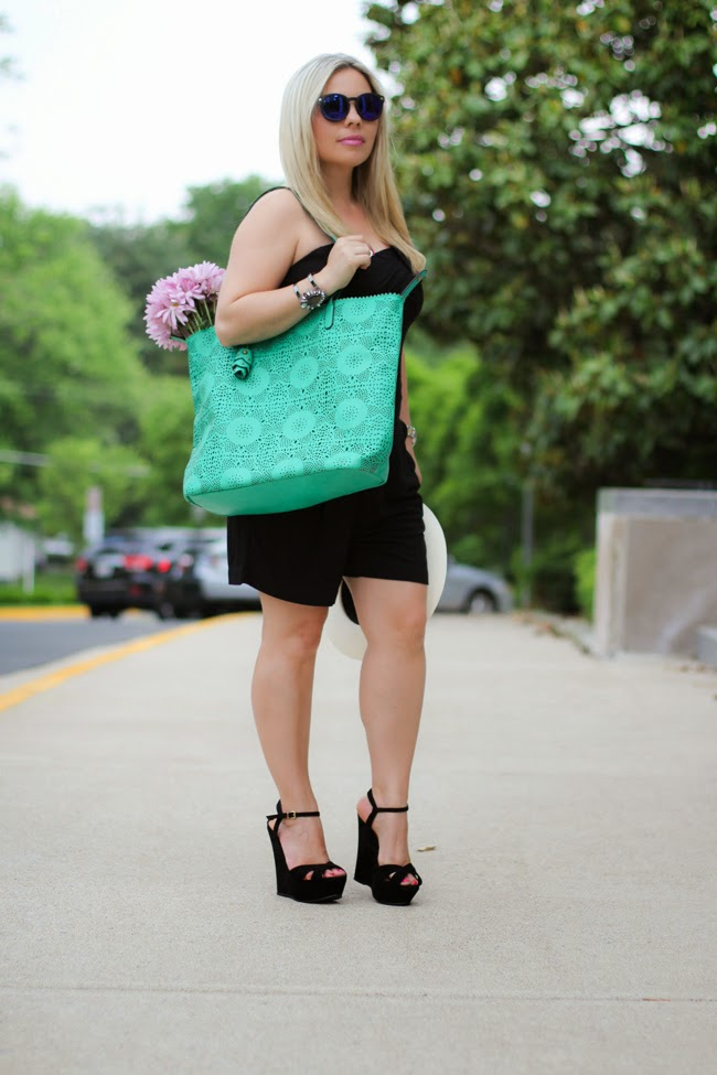 green beach tote