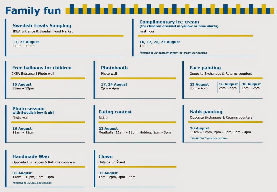 IKEA Family Fun for 24 August 2014