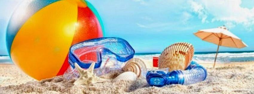 Jolie couverture facebook plage pour l'été