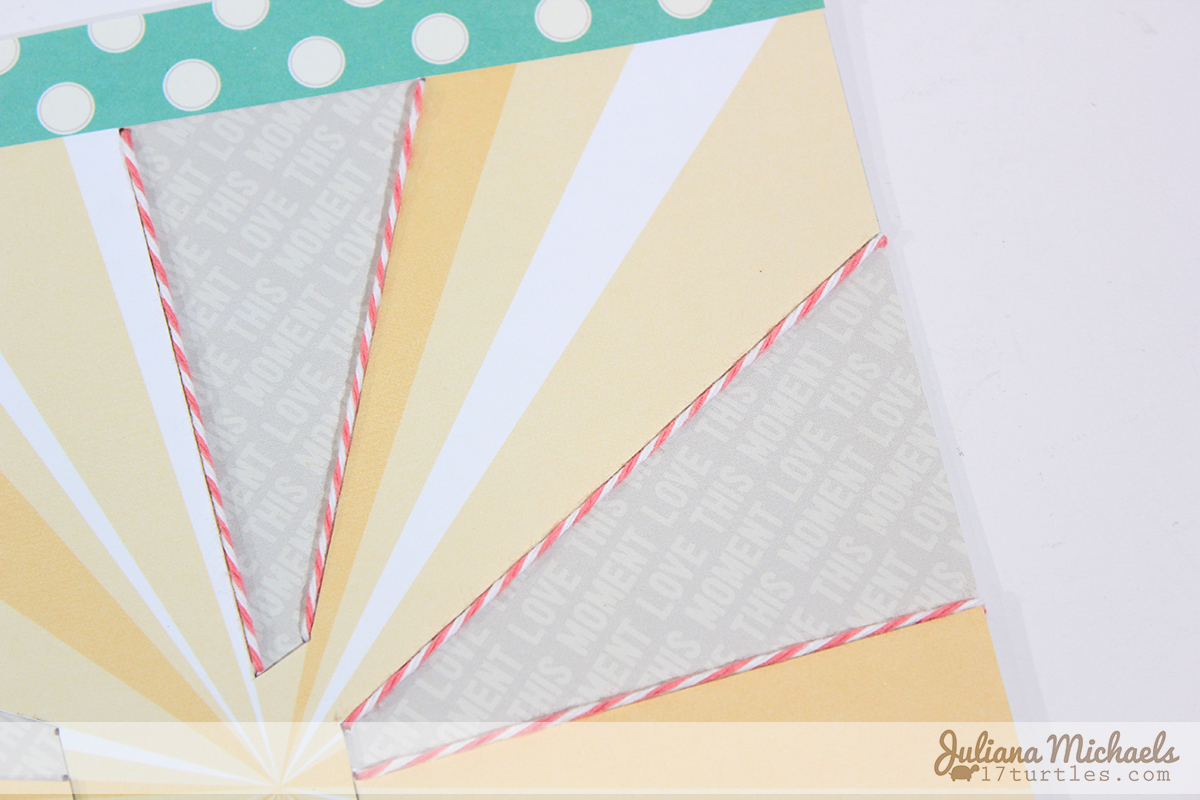Stitching With Twine On Your Scrapbook Page Tutorial by Juliana Michaels featuring Elle's Studio and The Twinery Twine