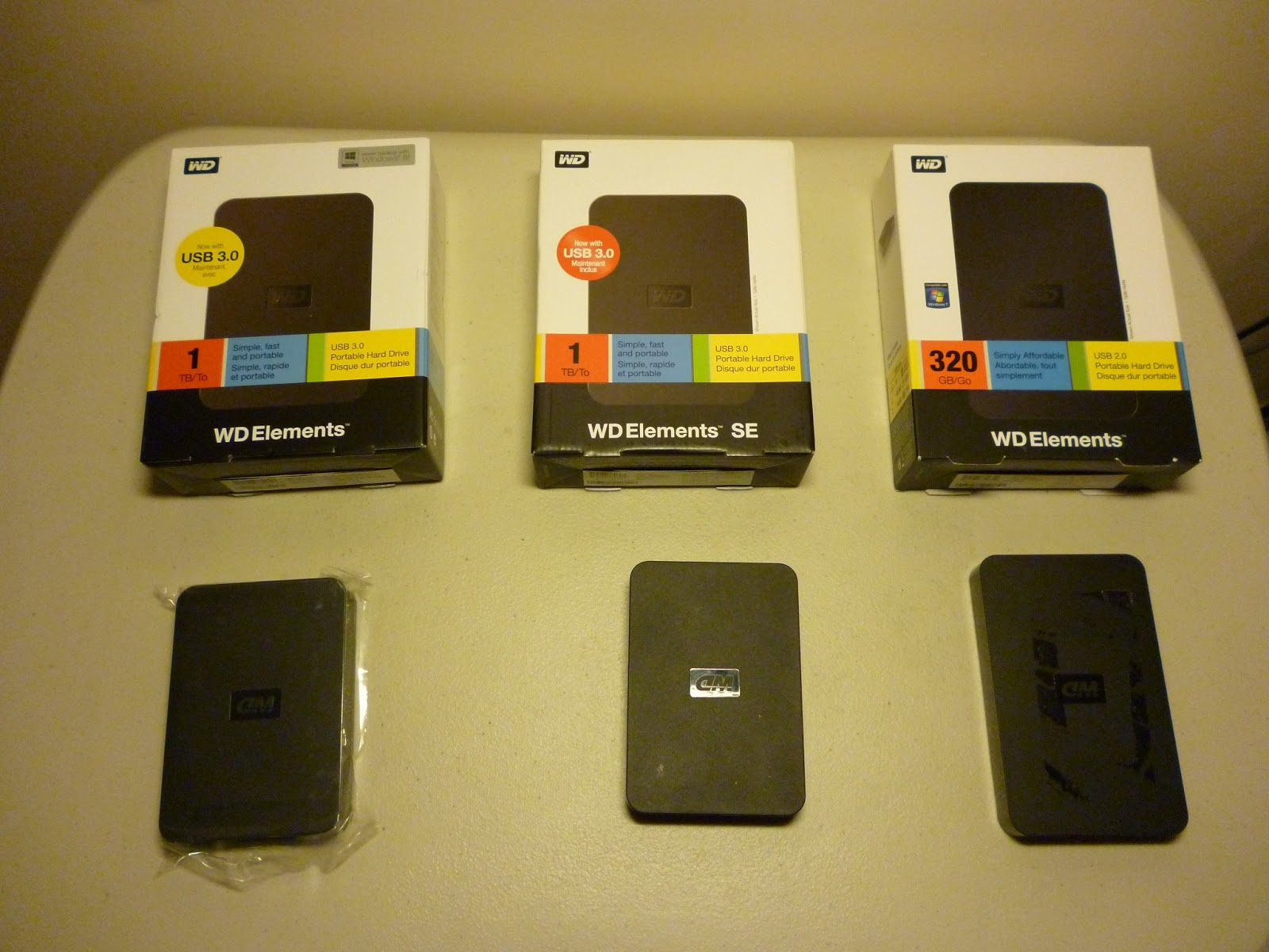 Comparing the different versions of WD Elements, WD Elements SE