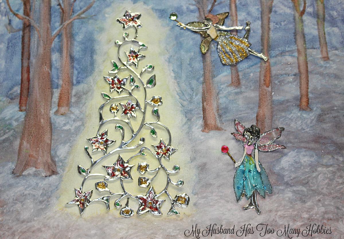 Woodland Fairy Christmas Art - My Husband Has Too Many Hobbies