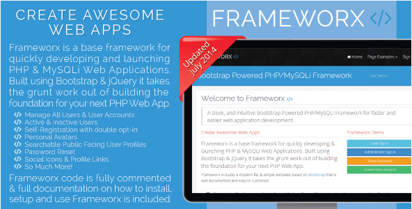 Bootstrap Powered PHP MySQLi Framework