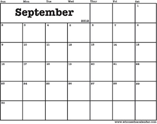printable-calendar september 2012