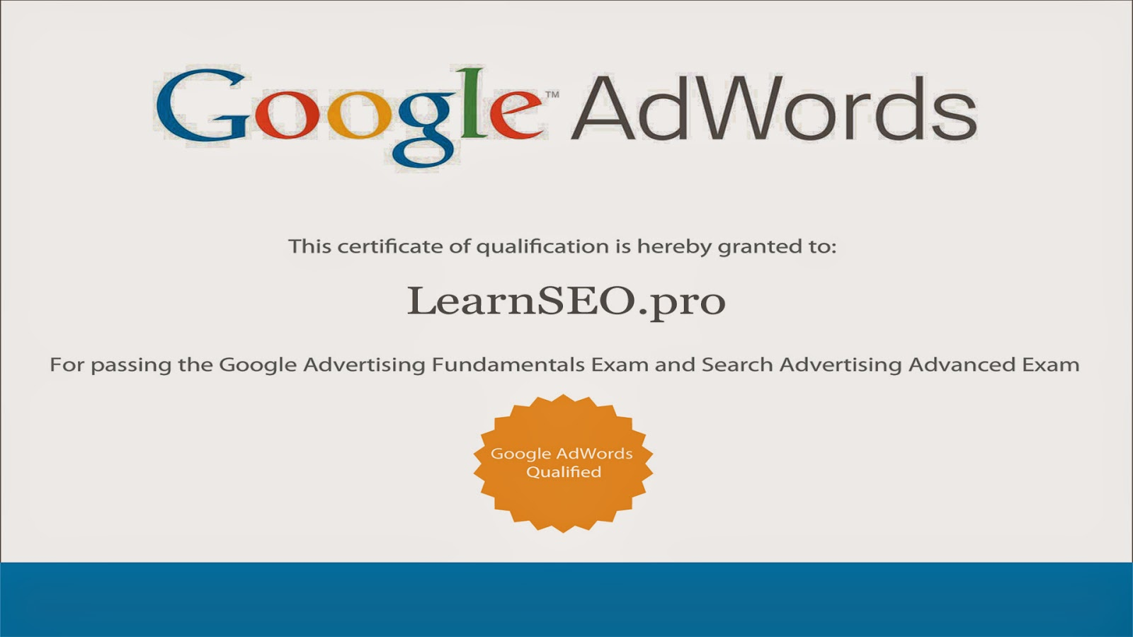 Google adwords certification exam tutorials learnseoo google adwords certification xflitez Image collections