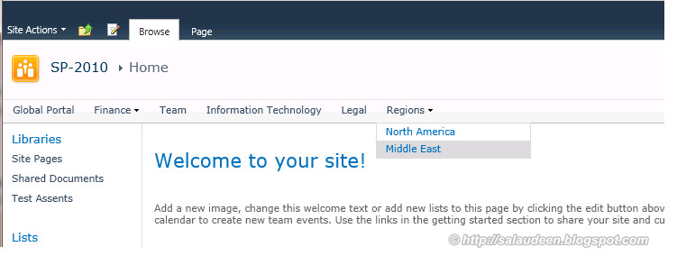 sharepoint 2010 common navigation across site collections