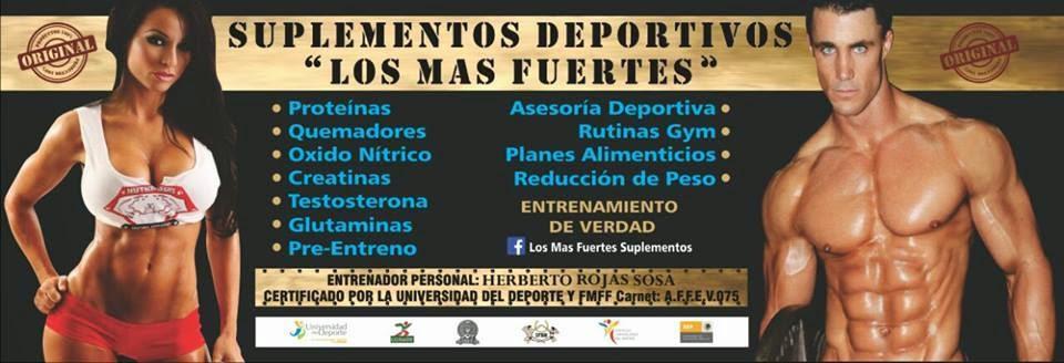 """Suplementos deportivos """" Los Mas Fuertes"""""""