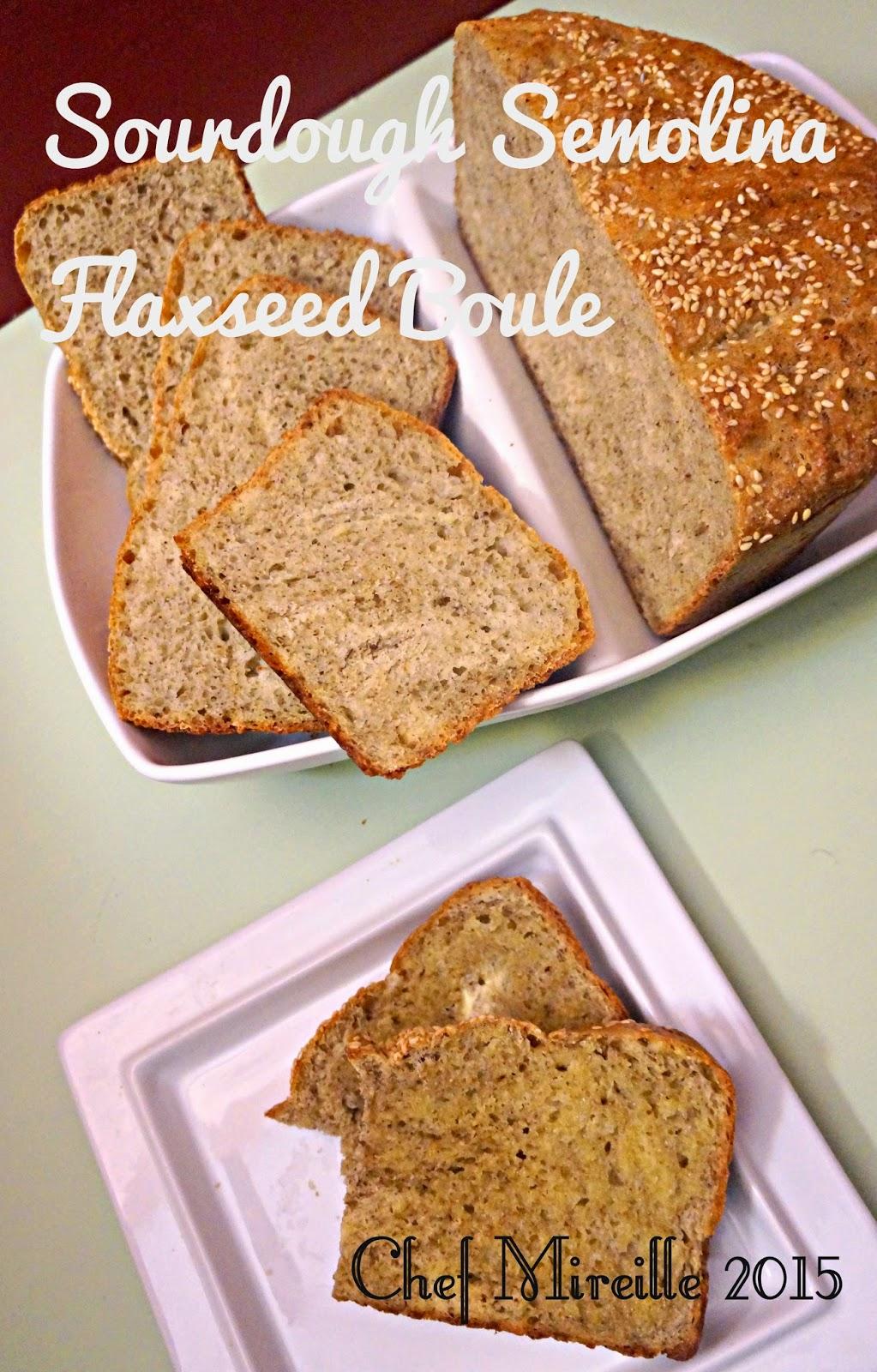 Sourdough Bread, Sourdough Semolina, Flax Seed Boule