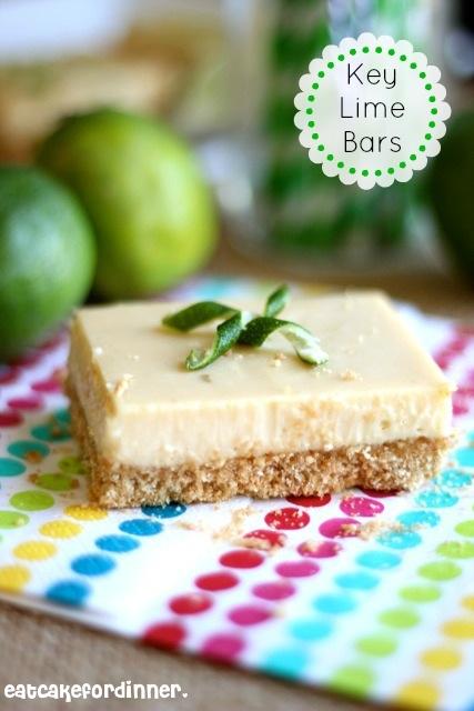 Eat Cake For Dinner: Key Lime Bars with an Animal Cracker Crust