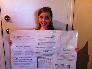 Kylie puts our natural cleaners to the test in her 4th Grade Science project: AspenClean v Chemical Cleaners