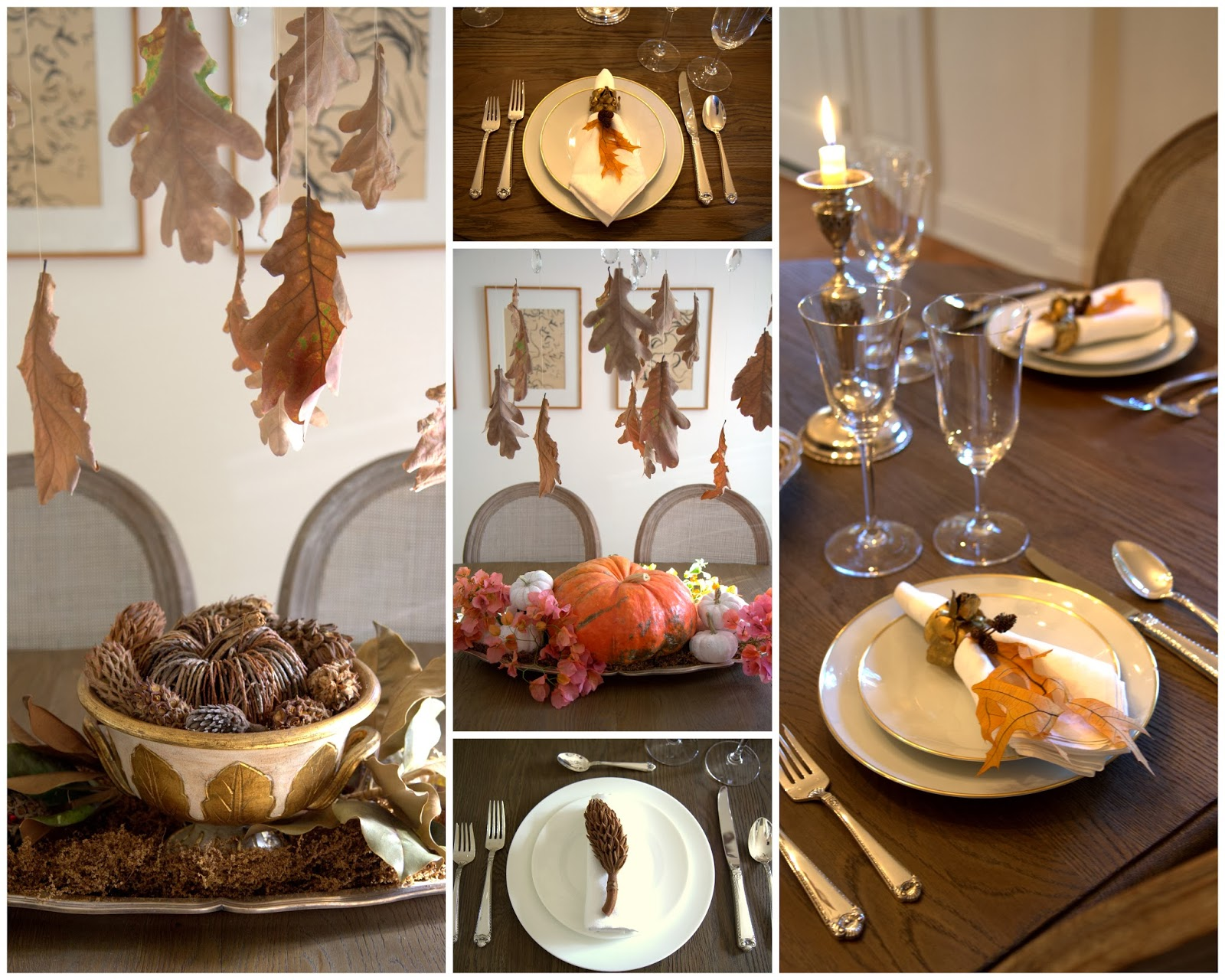 Decorating the Thanksgiving Table