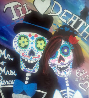 Dia de los Muertos - Day of the Dead Wedding Painting by Lauren Paints