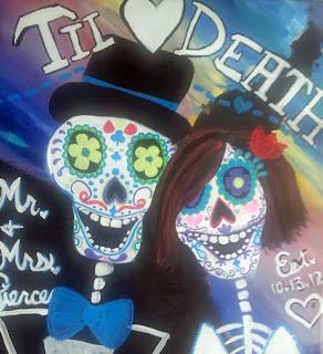 Dia de los Muertos - Day of the Dead Wedding Painting by Lauren Paints