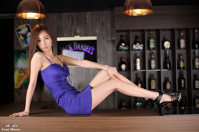 1 Lee Ji Min in Blue-very cute asian girl-girlcute4u.blogspot.com