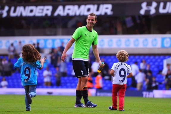 Roberto Soldado already has two children, Daniela, 5, and Enzo, 4