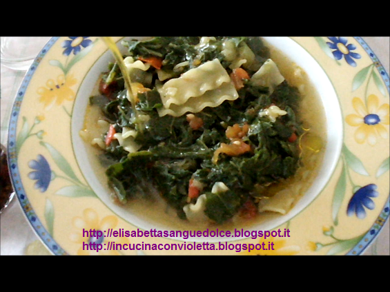 Pasta and tenerumi Copyright © Cooking with Violetta