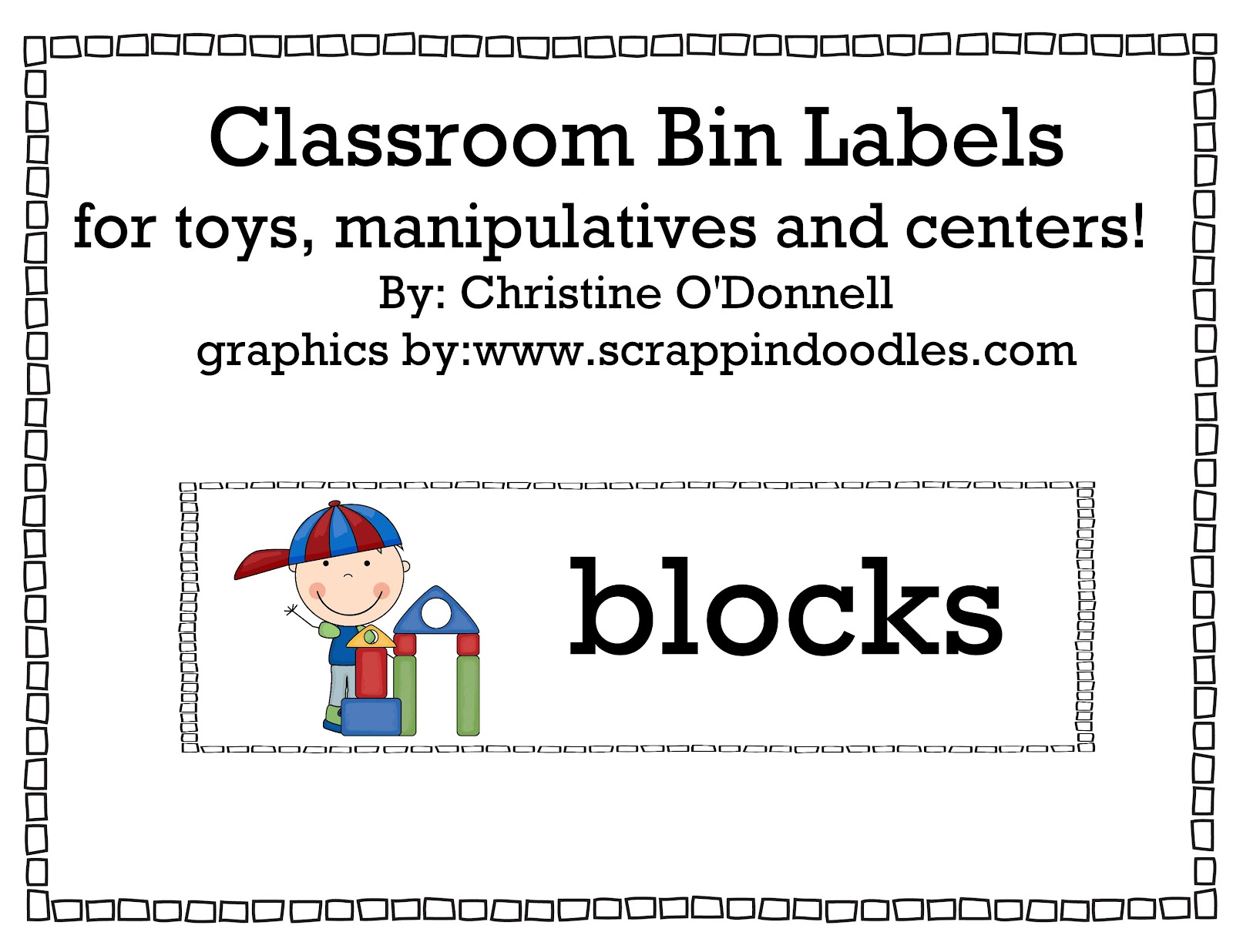 Trust image for free printable classroom labels for preschoolers