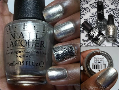 Collage featuring extra shots of the manicure, and polishes
