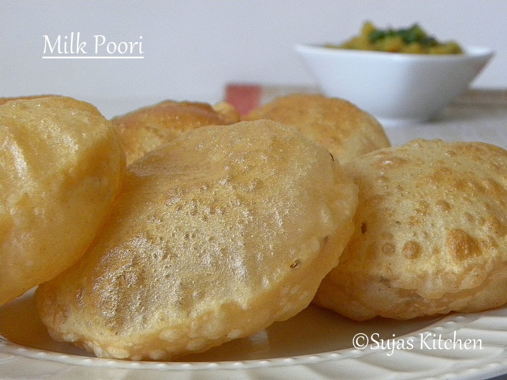 Milk Poori/Fried Indian Puffy Bread