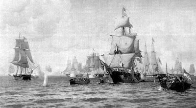 'Combate naval de Quilmes, durante la guerra con el Imperio del Brasil' (1826), imagen tomada de Gacetamarinera digital
