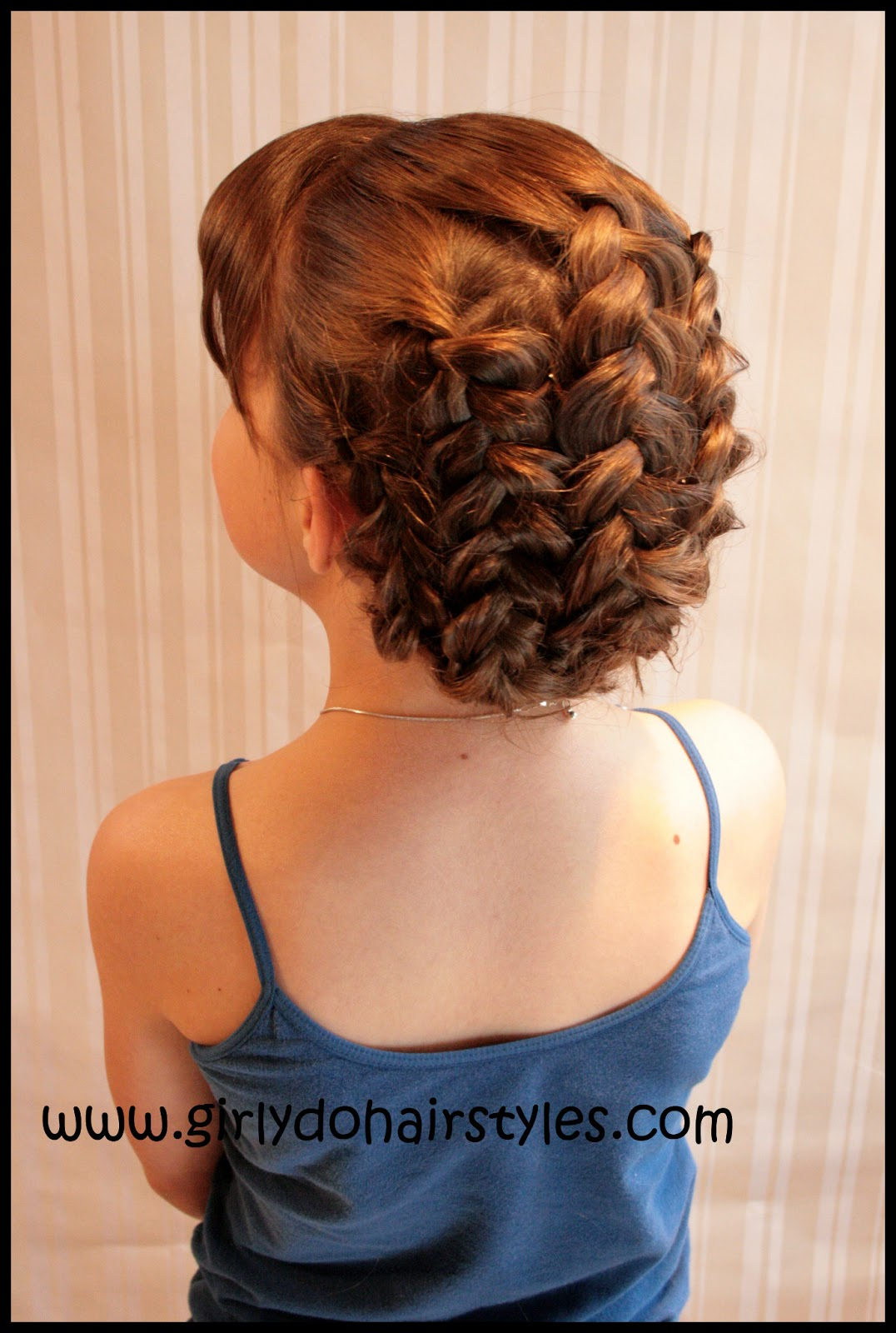 Little Girl Braided Updo Hairstyles