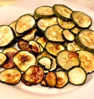 baked zucchini chips, healthy snack