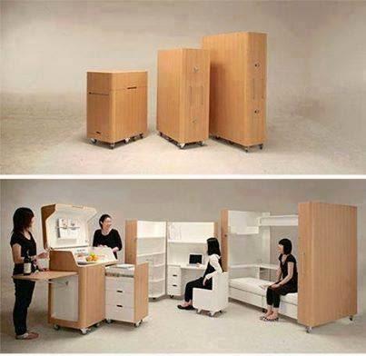 Les meubles modulables moblies et déplaçables vous permettent d'exploiter au maximum votre intérieur