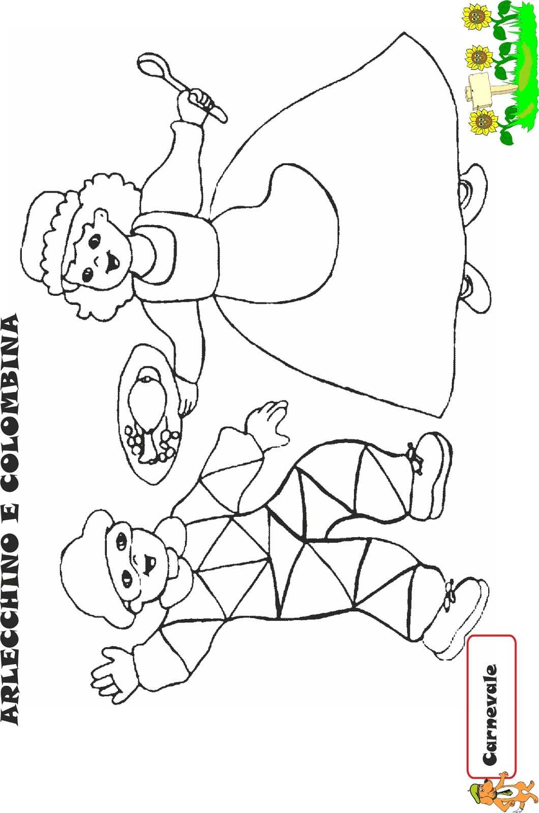 A scuola con poldo schede carnevale 3 for Schede didattiche natale scuola infanzia