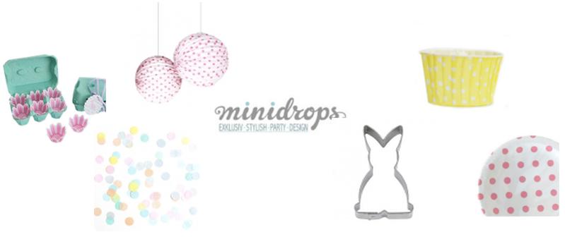 Minidrops, Partyshop Produktcollage