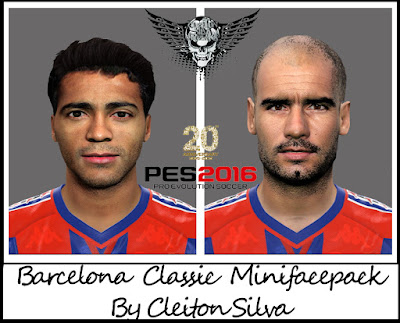 PES 2016 Barcelona Classic Mini Facepack by Cleiton Silva