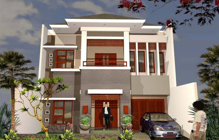 model rumah minimalis bertingkat 2 modern desain rumah