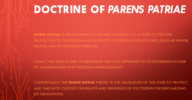 the parens patriae law essay Essay on parens patriae александр state immunity in public international law - duration: 14:49 djaguilfoyle 11,914 views 14:49.