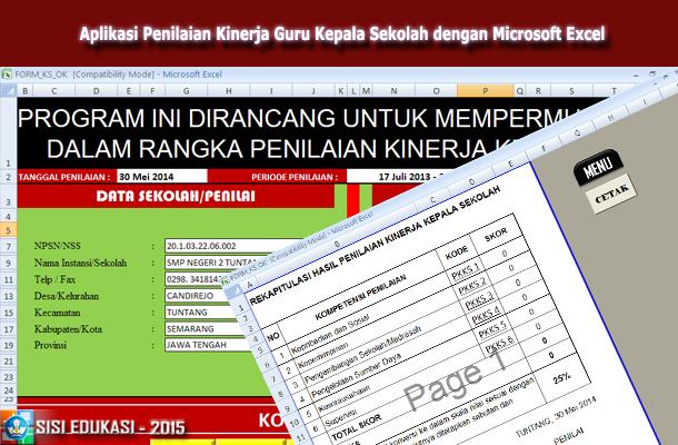 Aplikasi Penilaian Kinerja Guru Kepala Sekolah dengan Microsoft Excel