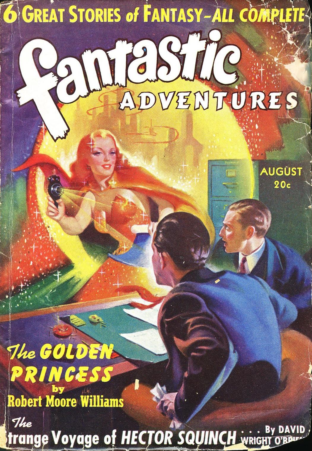 Fantastic Adventures 2 Issue Lot 1951 Nice Copies