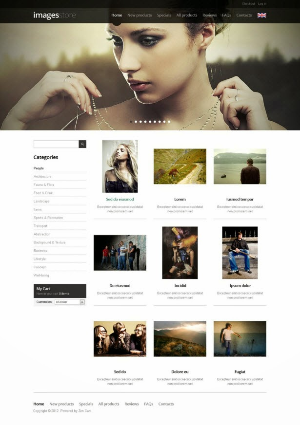 Images & Illustrations ZenCart Template