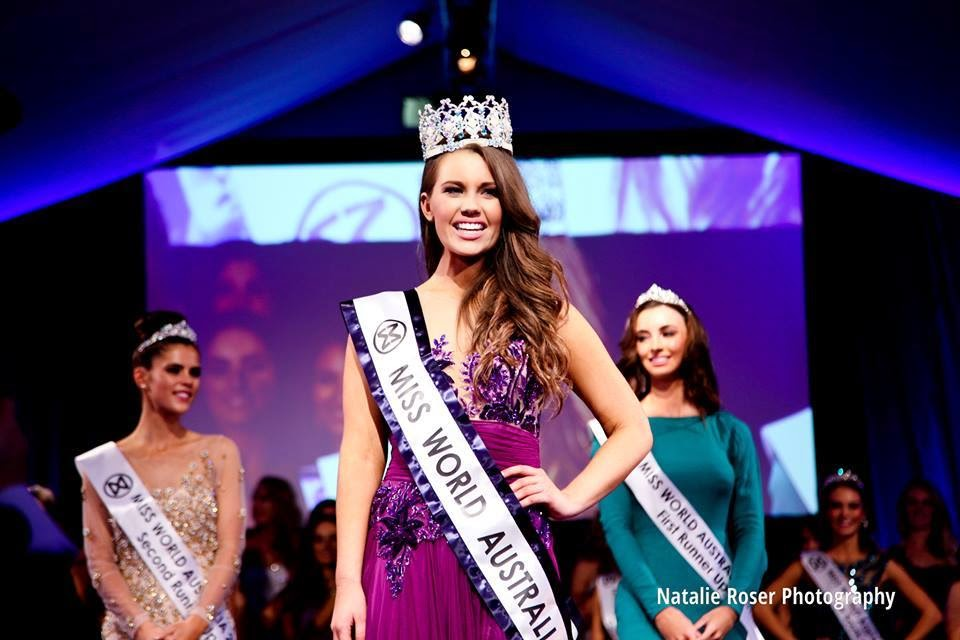 Miss World Australia 2014 winner Courtney Thorpe