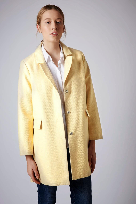 topshop lemon coat