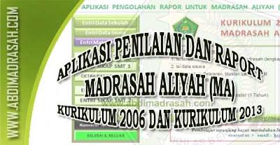 Aplikasi Raport Madrasah Aliyah
