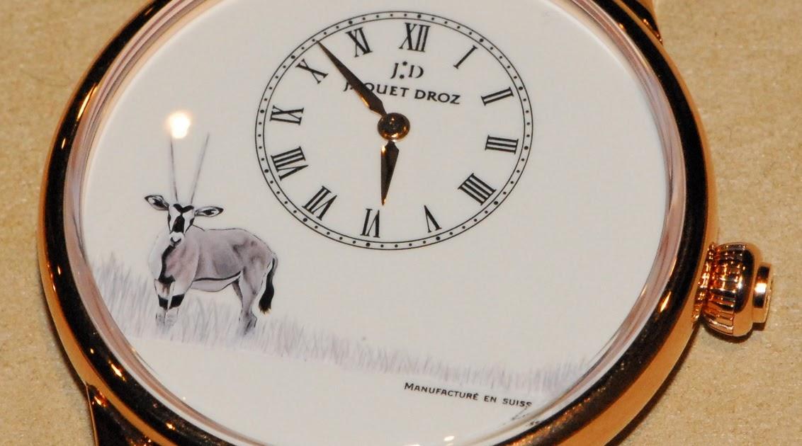J 39 aime les montres la montre du jour jaquet droz petite heure minute peinture sur mail for Peinture sur email