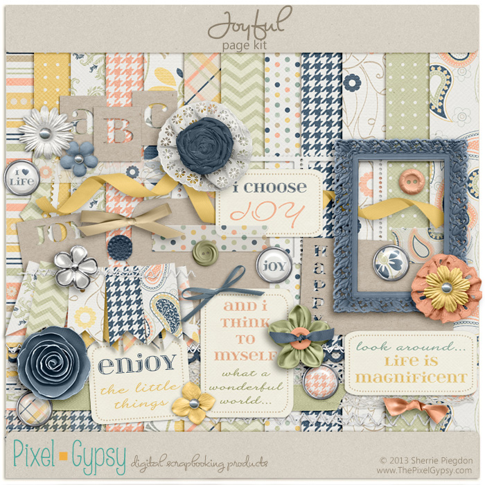 Joyful Digital Scrapbooking Page Kit
