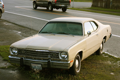 1973 Plymouth Duster hardtop.