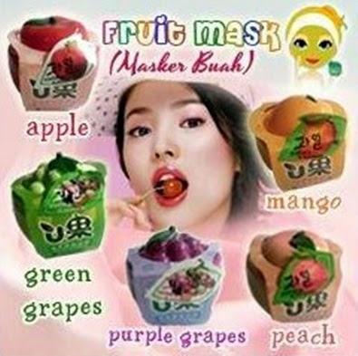 masker buah-buahan dari korea untuk kulit putih