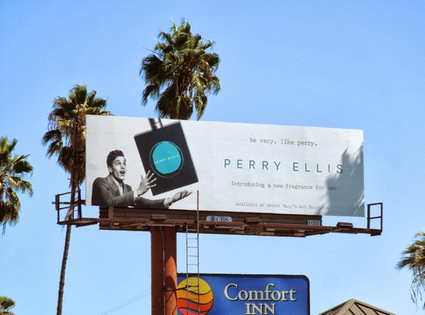 Perry Ellis Very Perry fragrance billboard