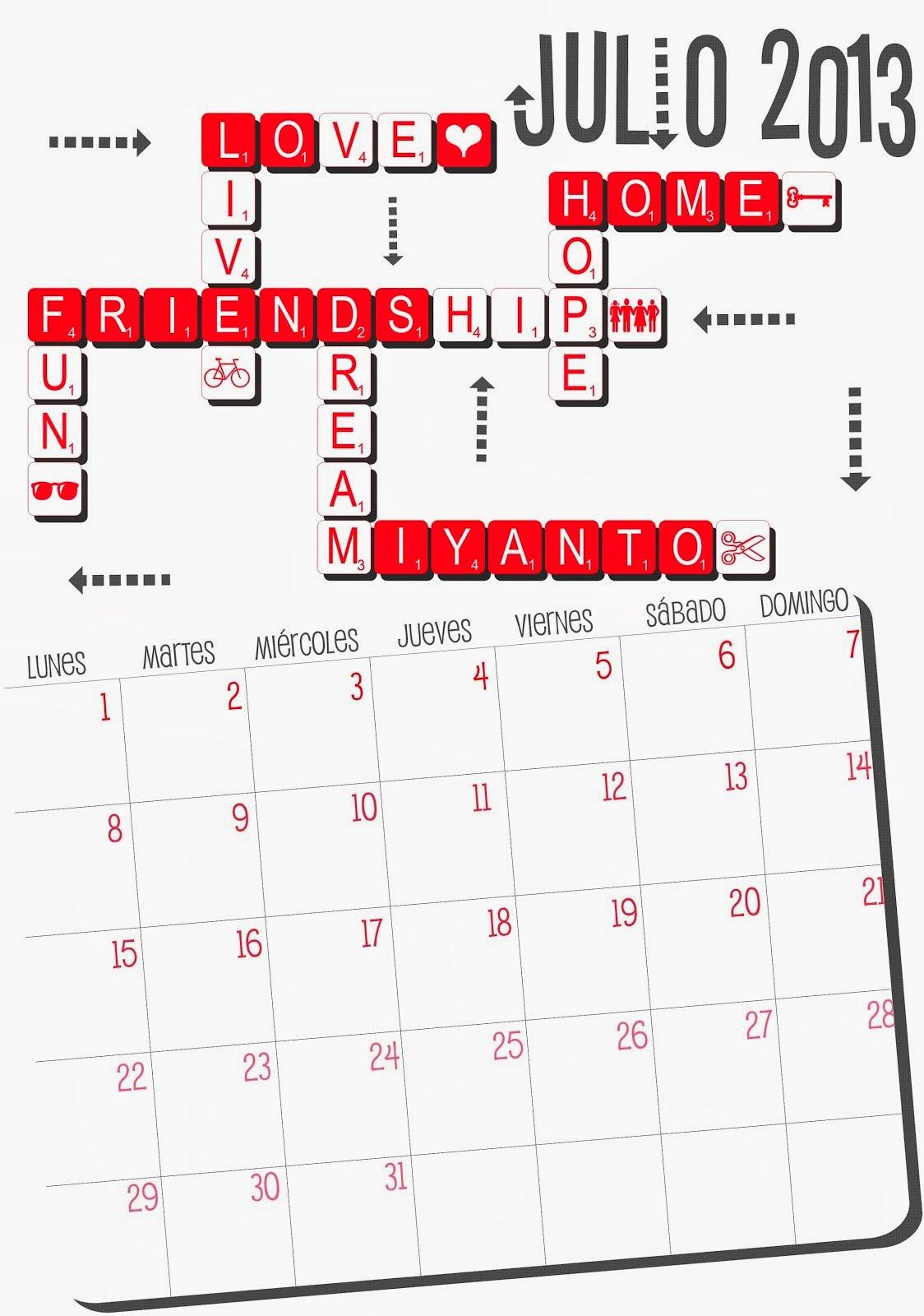 Descarga Gratis el Calendario Miyanto