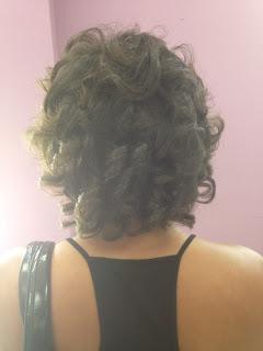 natural hair straightened