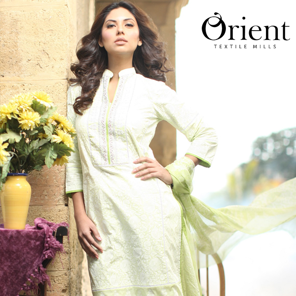 Orient Spring Lawn Chiffon Dress