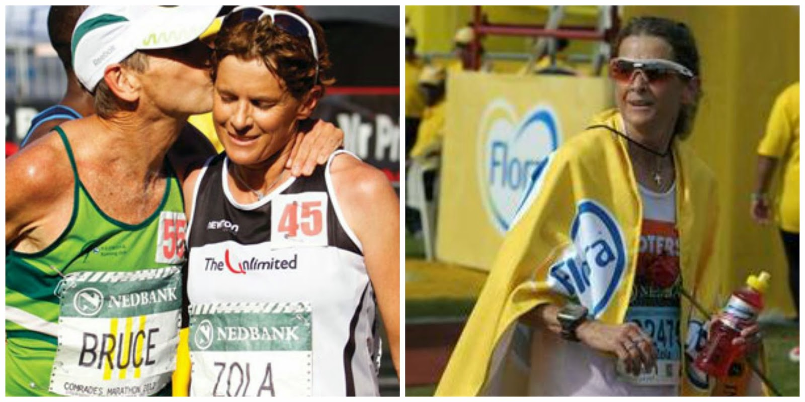 Zola Budd finishing Comrades 2012 and 2014