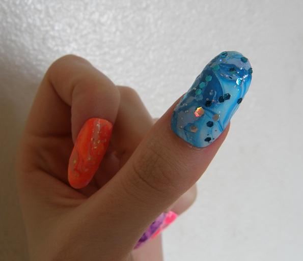 memi la water marble nail fail