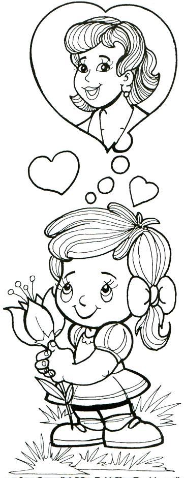 dibujos de amor y amistad. amor y amistad para colorear.