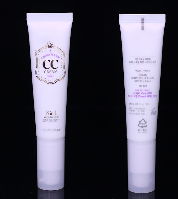 A photo of Etude House Correct & Care CC Cream Silky